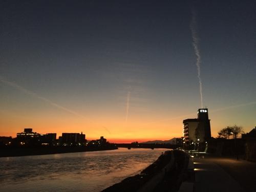 nagaragawa sunset